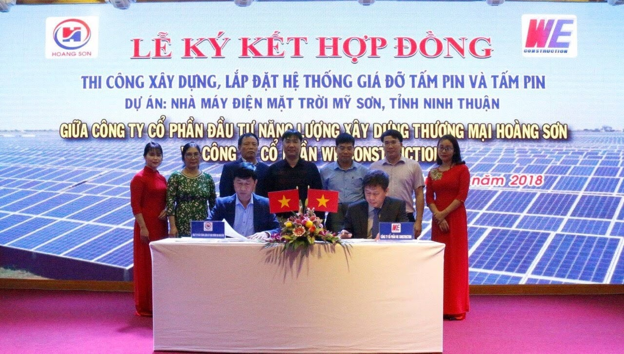 Contract signing ceremony of the project of My Son Solar Power Plant